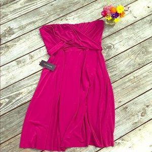 Ann Taylor Strapless Dress Fuschia NWT Sz 12